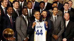 US-Präsident empfängt Golden State Warriors
