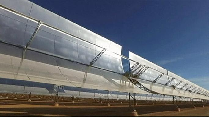 Morocco's gigantic solar power plant gets the big switch on