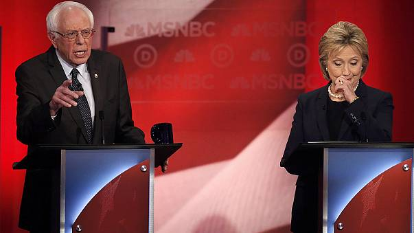 Analysis: Going gets tough between Clinton and Sanders in first one-on-one debate