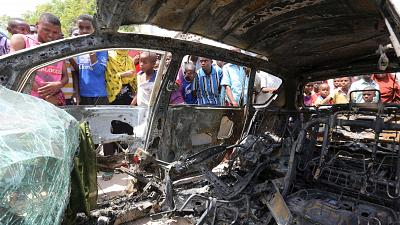 Three killed in Somalia car bomb two days after airplane blast in Mogadishu