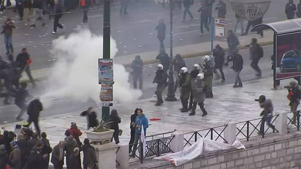 Греция: протесты против пенсионной реформы