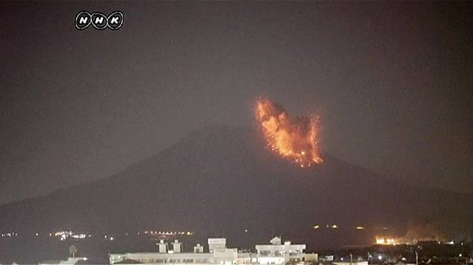 Japanese volcano erupts on nuclear power station island