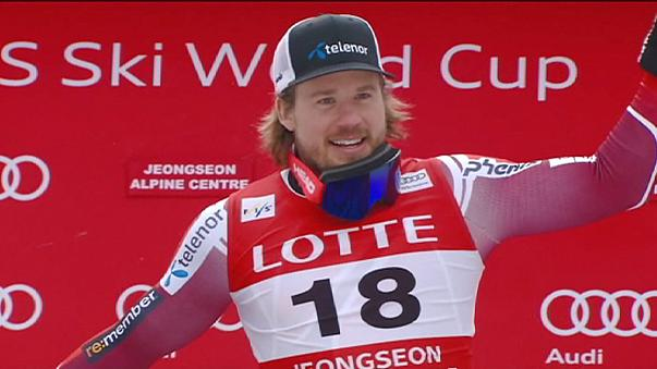 Jansrud claims first victory on South Korean Winter Olympic piste