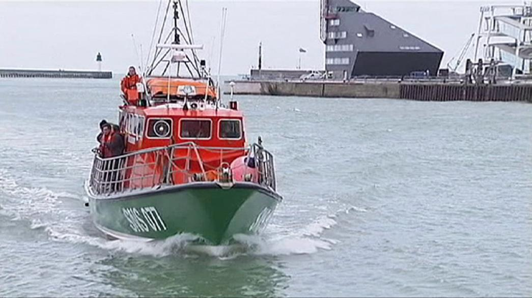 Five migrants saved from channel after trying to sail to Britain from Calais