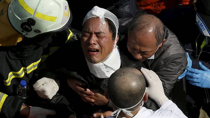 Plus de 130 personnes toujours bloquées dans les immeubles effondrés de Taïwan