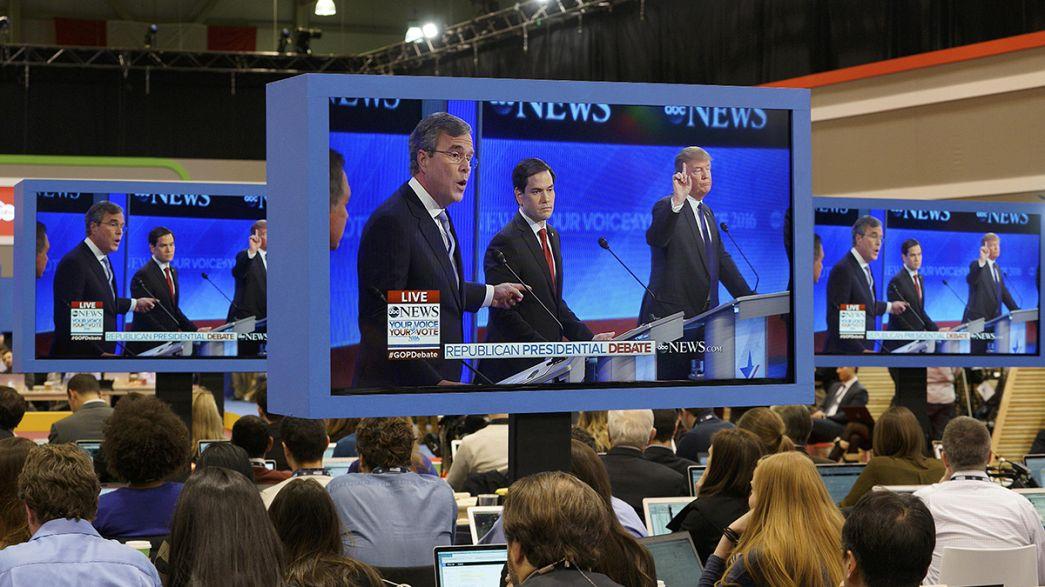 """""""Todos contra Rubio"""", en el último debate de los aspirantes a la candidatura republicana a la Casa Blanca"""