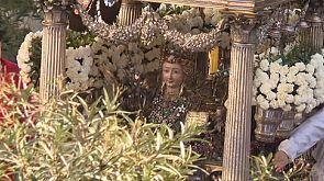 Katholiken auf Sizilien ehren Heilige Agatha