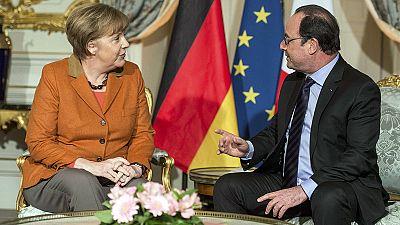 """Refugiados e """"Brexit"""" no menu de Hollande e Merkel"""