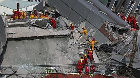 Two more survivors are rescued from the rubble in quake-struck Taiwan