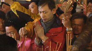 Véspera do ano novo chinês em Taiwan