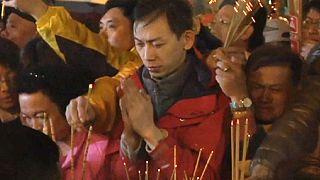 Luto en Taiwán la víspera del Año Nuevo Lunar