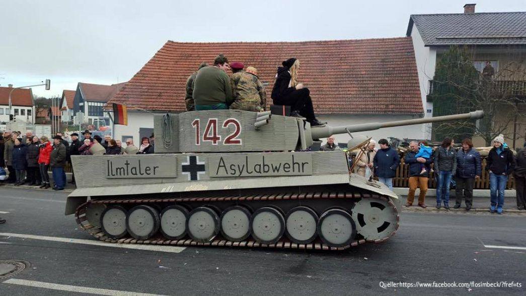 """""""Asylabwehr"""": Staatsanwaltschaft ermittelt wegen Karnevals-Panzer"""