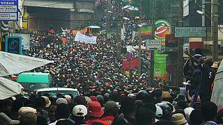 Des manifestants commémorent la tuerie du 7 février 2009 à Madagascar