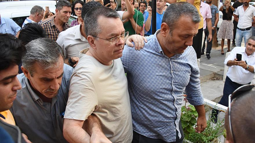 Image: North Carolina pastor Andrew Brunson is released from Aliaga Prison