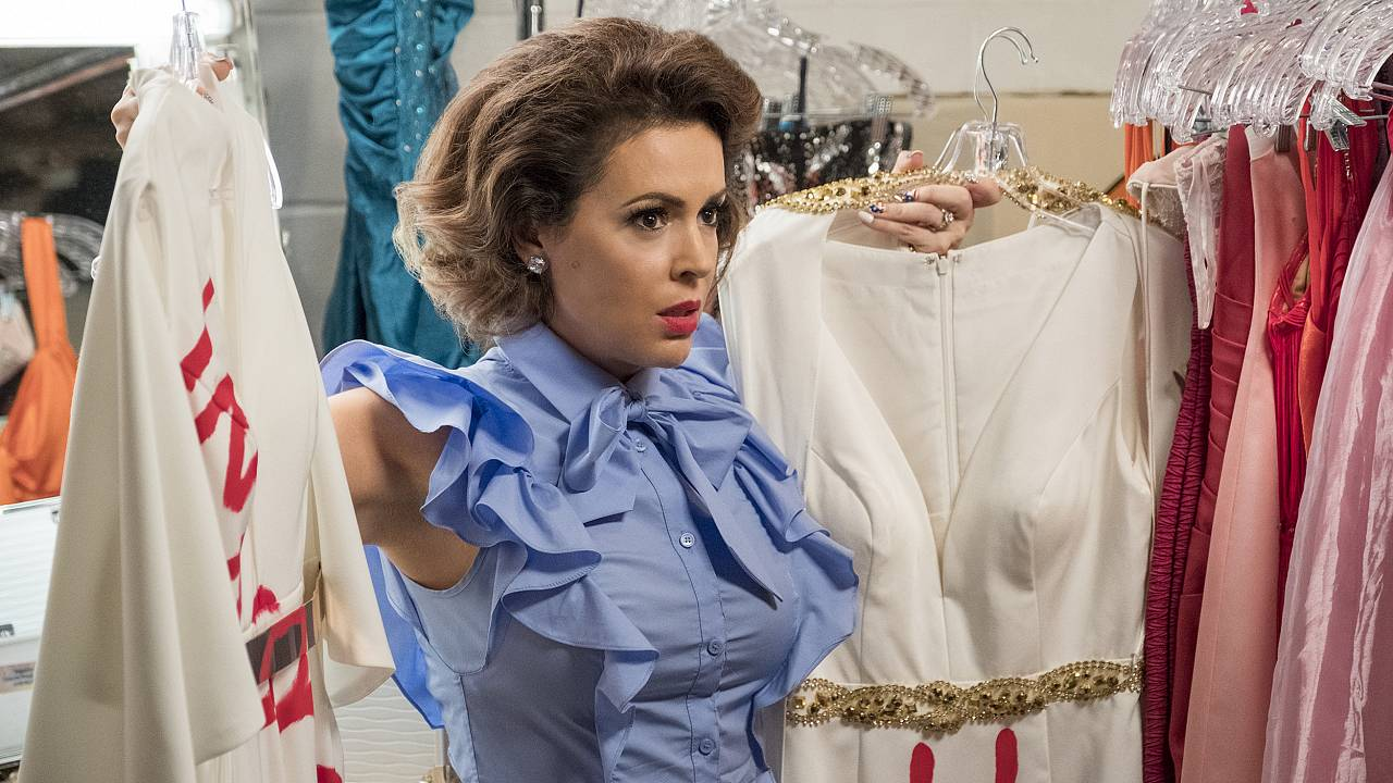 "Image: Alyssa Milano in a scene from ""Insatiable"""
