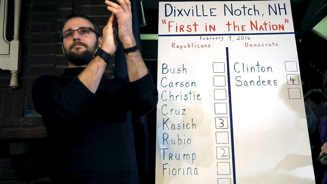 New Hampshire'ın favorileri Trump ve Sanders