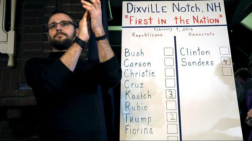 Las primarias de New Hampshire empiezan en Dixville Notch con el triunfo de Sanders y Kasich