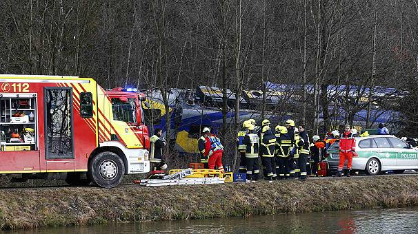 Two commuter trains collide head-on in Germany