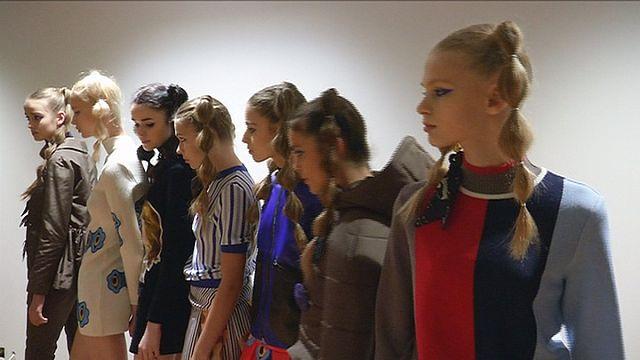 Kiev'de moda esintisi
