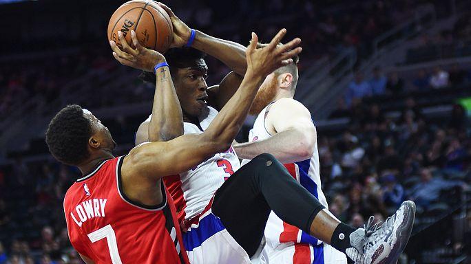 NBA: Pistons'a Raptors'tan ağır darbe
