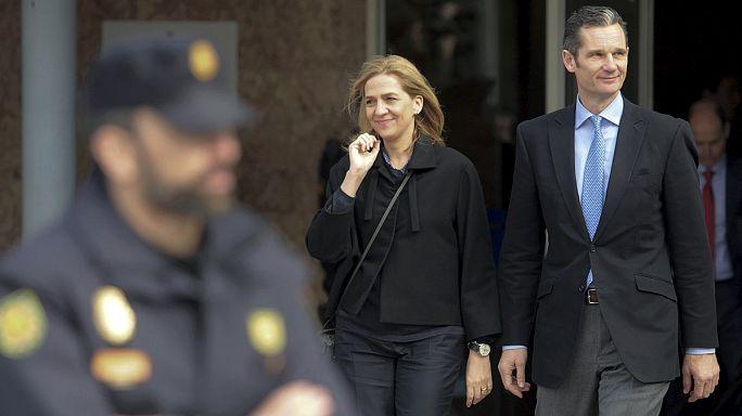 الاميرة كريستينا امام محكمة بالما دي مايوركا