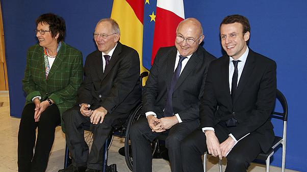 French and German finance chiefs discuss economic weakness and eurozone recovery