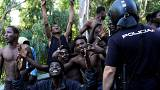 Hundreds of cheering migrants storm border fence, enter Europe
