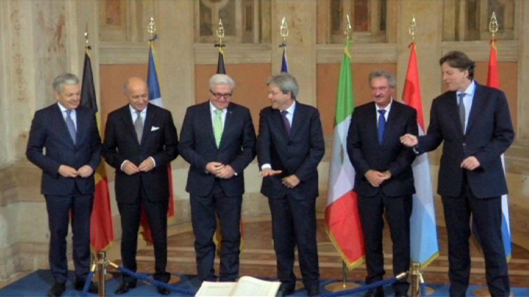 Fundadores da União Europeia prometem lutar por união mais forte