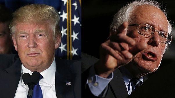 """Sanders et Trump fêtent leur victoire contre """"l'establishment"""""""