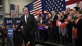 US: Jeb Bush vows to fight on after New Hampshire primary