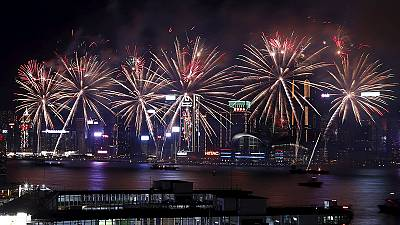 Hong Kong fireworks herald the start of the year of the Monkey – nocomment