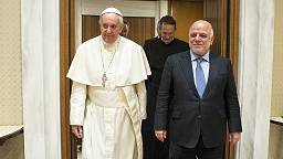 Pope raises concerns for Christians in talks with Iraqi PM Abadi