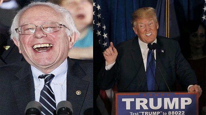 Az első előválasztást Donald Trump és Bernie Sanders nyerte