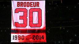 Goaltending legend Brodeur's New Devils shirt retired