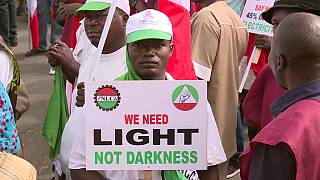 Workers in Nigeria demonstrate against increase in electricity prices