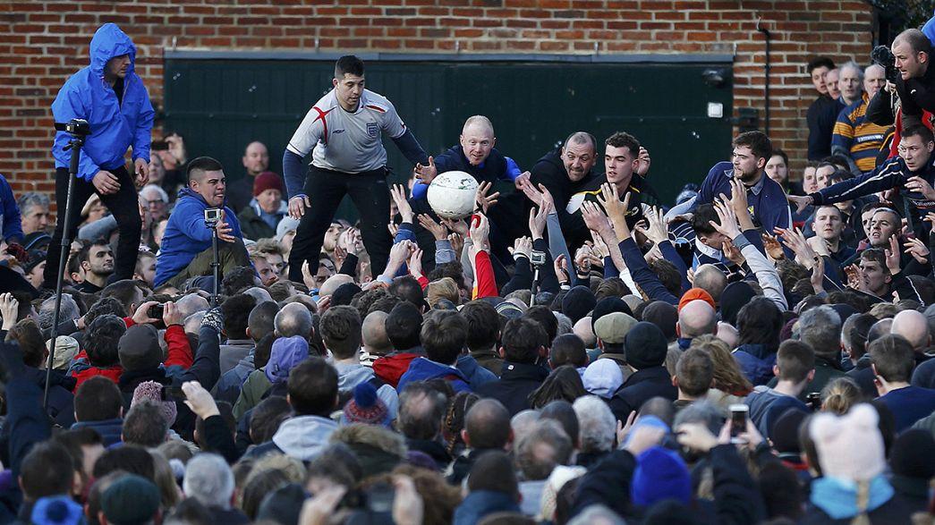 Royal Shrovetide: Das verrückteste Fußballspiel Großbritanniens