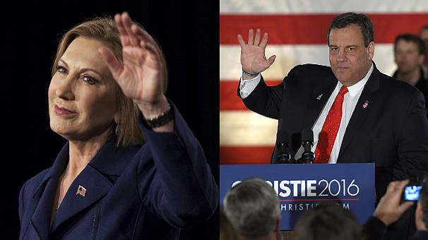 Christie and Fiorina pull out of Republican race