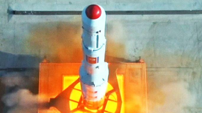 Kuzey Kore'den rokete ait olduğu öne sürülen ilk görüntüler