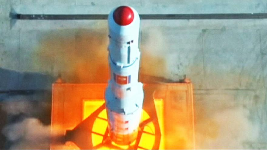 North Korea: broadcasts footage said to show latest missile launch