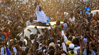Uganda's opposition rallies behind Besigye in a build up to the polls
