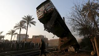 Egypt train crash leaves close to 100 injured