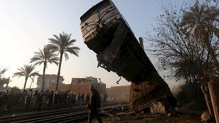 Egypt train crash leaves close to 100 injured