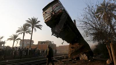 Egypte : déraillement d'un train au sud du Caire