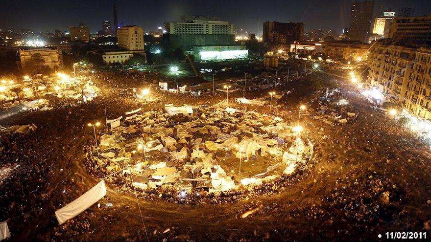 الذكرى الخامسة لتنحي الرئيس المصري حسني مبارك