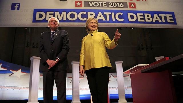 Clinton, Sanders clash in first one-on-one debate after New Hampshire
