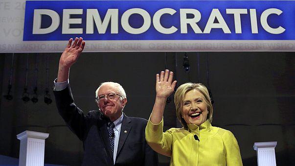 Tenso cara a cara entre Bernie Sanders y Hillary Clinton