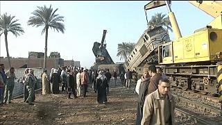 Egypt train crash leaves more than 100 injured