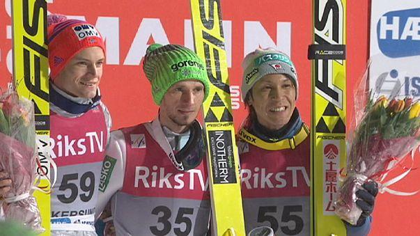 القفز على الثلج: السلوفيني روبرت كرانيك يفوز في النرويج