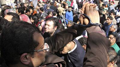 Egyptian doctors stage anti-police protests