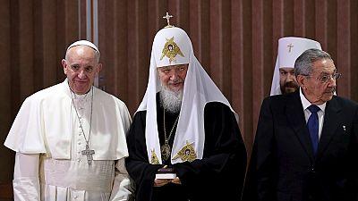 Rencontre historique entre le pape François et le patriarche Kirill de l'église orthodoxe russe